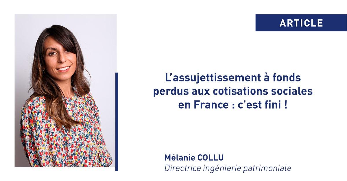 L'assujettissement à fonds perdus aux cotisations sociales en France : c'est fini !