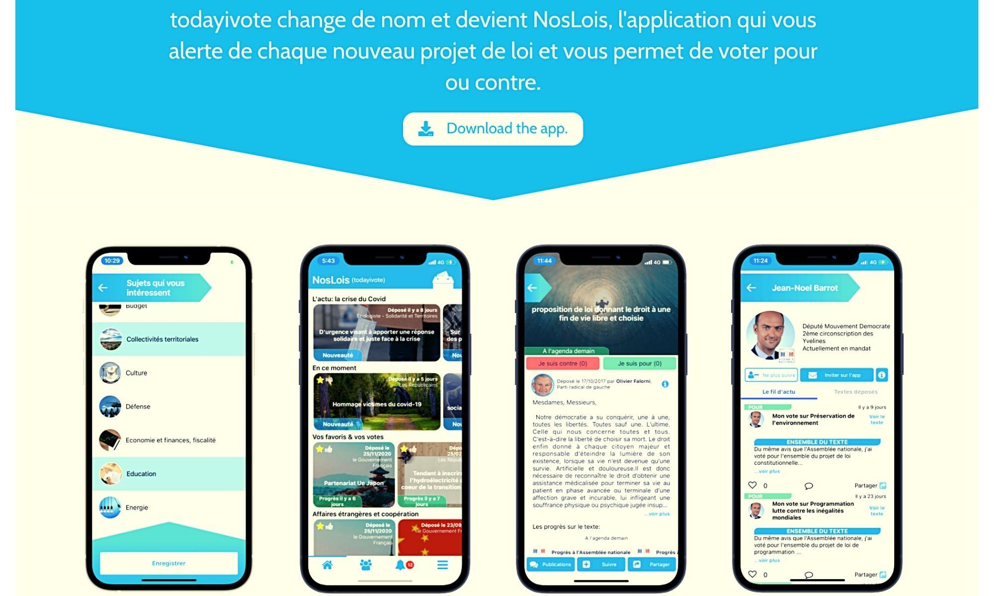 Vivre ailleurs, sur RFI. Les expatriés et l'application «Todayivote» ou «NosLois»