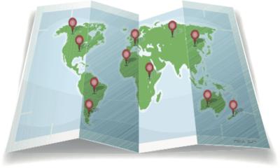 Le tour du monde en 80 clics: un planisphère interactif