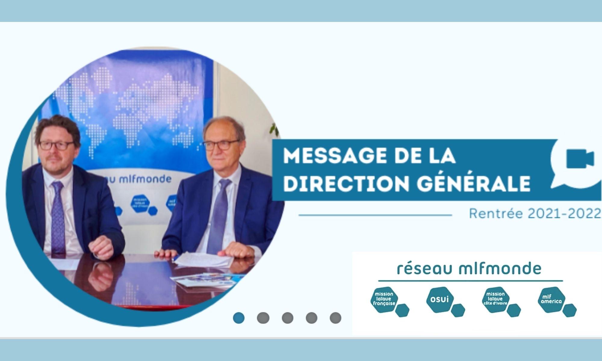 Message de rentrée de la direction du Réseau MLF monde pour l'année scolaire 2021/2022