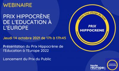 Le Prix Hypoccrene de l'Education à l'Europe 2022