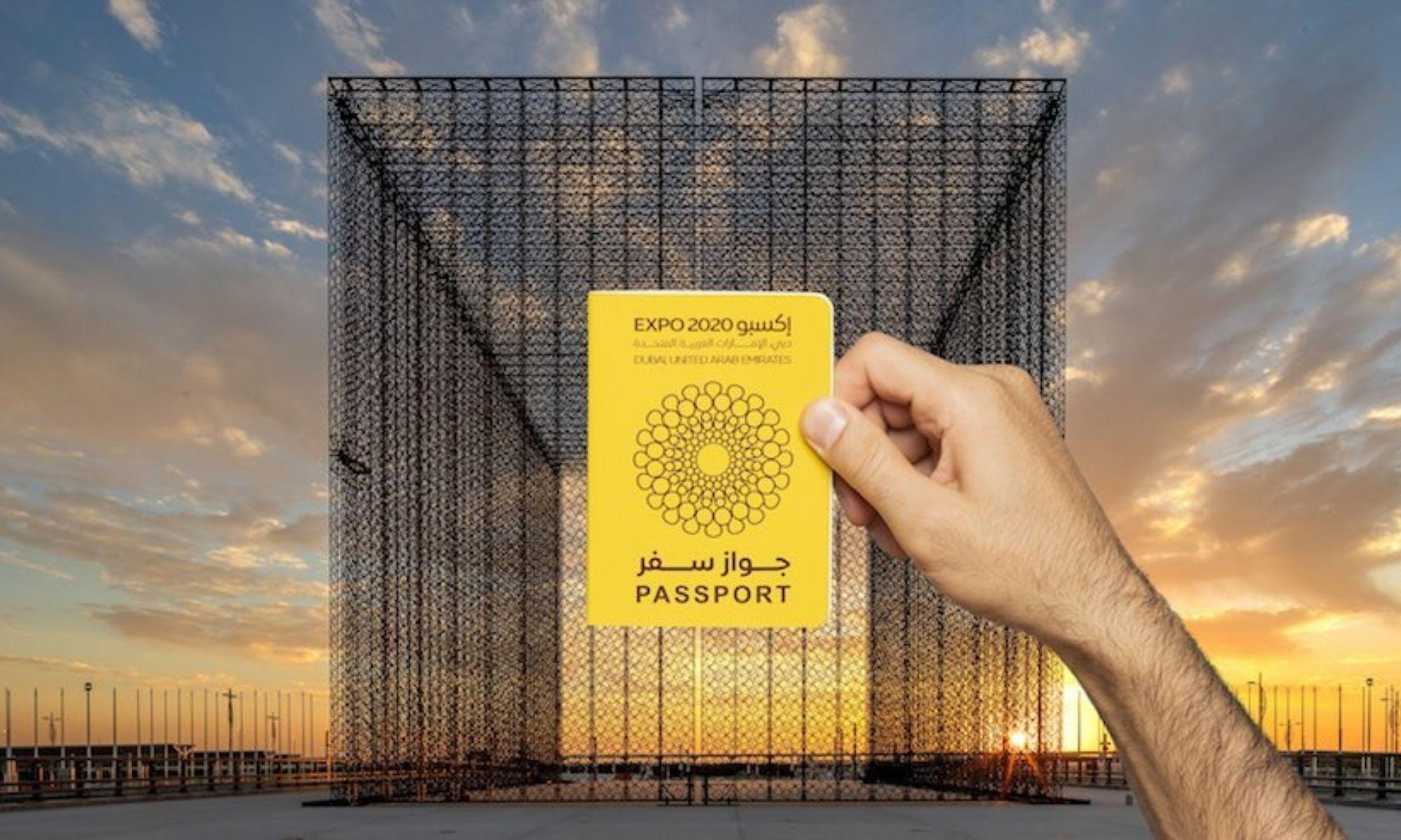 """Le passeport spécial """"Expo 2020 Dubaï"""", un souvenir unique."""